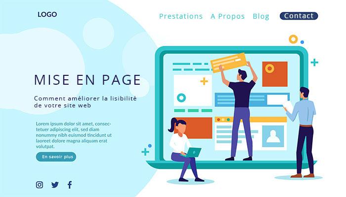 Mise en page site web