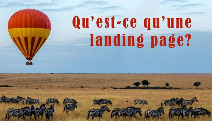 landig page